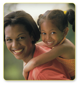 Dental Health -Smiling Mother and Daughter